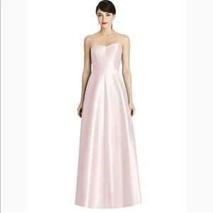 Alfred Sung Blush Strapless Gown Bridesmaid 16